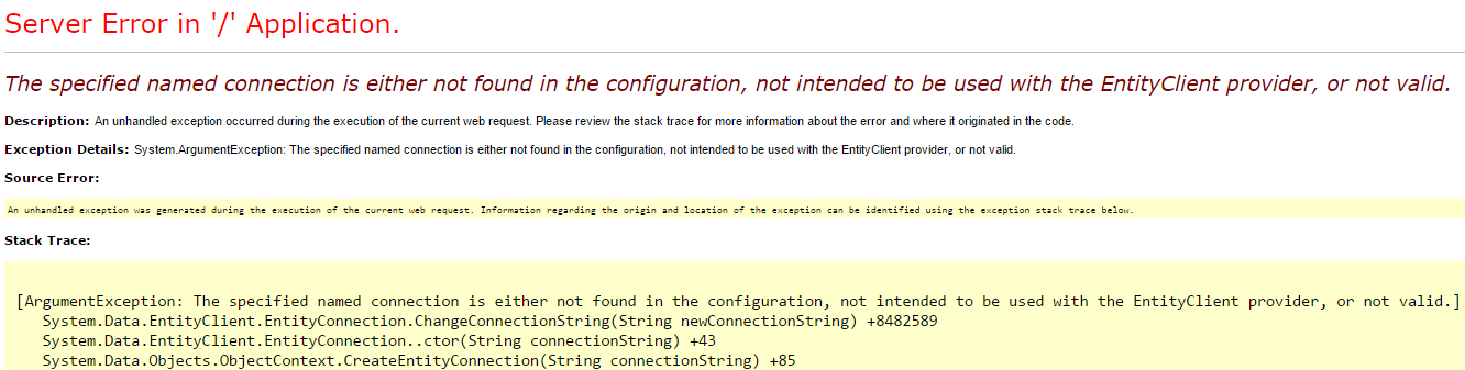 This error could mean a lot of things
